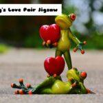 Frog's Love Pair Jigsaw