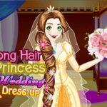 Long Hair Princess Wedding Dress up